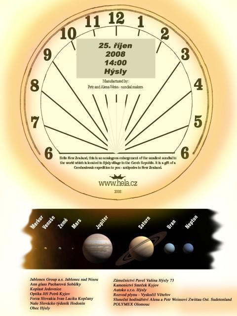 4227c7532 Nejmenší sluneční hodiny na světě - Oficiální stránky obce Hýsly